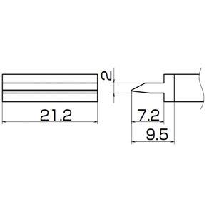 白光T12-1403こて先/スパチュラ21.2(IN-348)