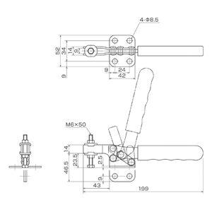 育良精機 ISK-38B小0 トグルクランプ (#ISK-38BS)