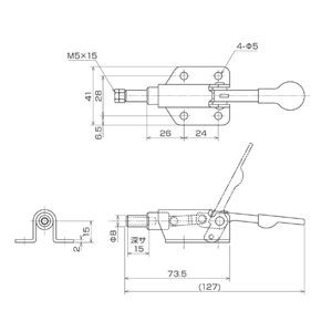 育良精機 ISK-070 トグルクランプ (#ISK-07)
