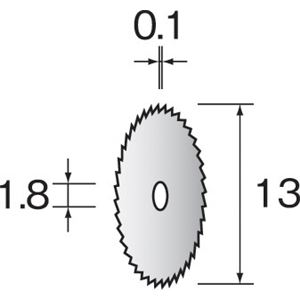 ミニター MC3101 (#B4601)ウス刃カッター 13 (10コ)