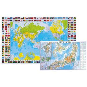 学習デスクマット【世界・日本地図】反射防止練込非転写加工光学マウス対応日本製ミワックスHRT-5080WJ