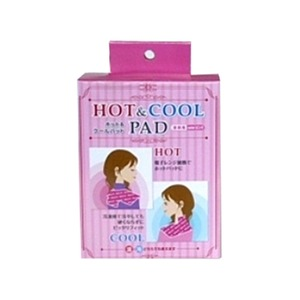 HOT&COOL パッド/リラックスグッズ 【首肩用】 ピンク ジェルタイプ 電子レンジ&冷凍庫対応 〔温熱シップ アイスパック〕