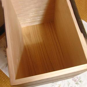 桐の米びつ/ライスストッカー 【30kg用/焼桐】 泉州留河 日本製