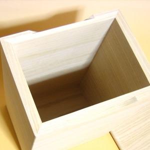 桐の米びつ/ライスストッカー 【10kg用/無地】 縦長型 泉州留河 日本製