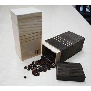 日本製 コーヒー豆入れ/キャニスターケース 【焼桐】 200gサイズ 泉州留河