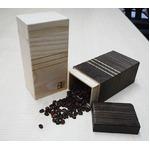 桐たんす屋さんが作るコーヒー豆入れ200gサイズ 日本製 泉州留河 焼桐