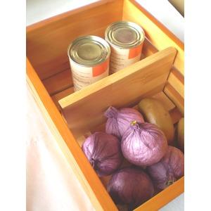 天然木 野菜便利ストッカー キッチン収納庫 キャスター付き 天然木パイン製