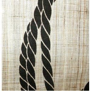 手捺染縁起のれん 円結び 手織り麻 日本製