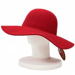 SCALA キャペリン フェルト ハット レディース HAT Red(赤) フリーサイズ