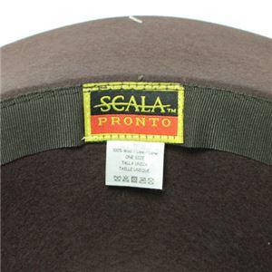 SCALA キャペリン フェルト ハット レディース HAT CINAMMON (シナモン)フリーサイズ