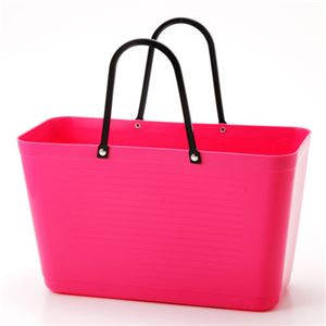 HINZA スウェーデン製 エコバッグ Hot Pink(ホットピンク) フリーサイズ