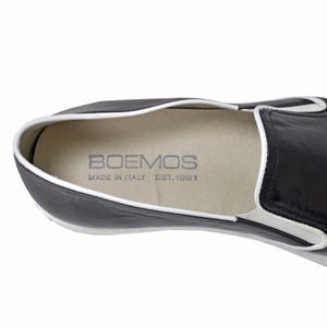 BOEMOS イタリア製 本革ポインテッドトゥ スリッポン レディースシューズ WHITE(白) 36サイズ(約22.5~23cm)
