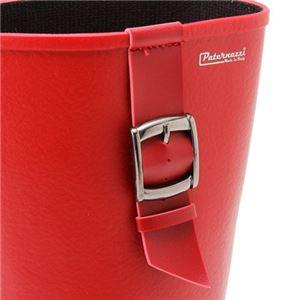 PATERNAZZI イタリア製ロングレインブーツ RED (レッド) 39サイズ 約24.5cm