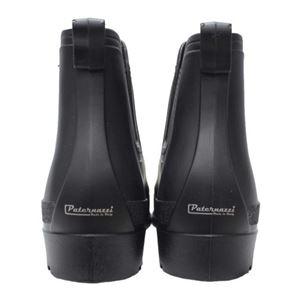 PATERNAZZI イタリア製サイドゴアレインブーツ BLACK (ブラック) 37サイズ 約23.5cm