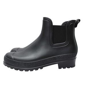PATERNAZZI イタリア製サイドゴアレインブーツ BLACK (ブラック) 38サイズ 約24cm
