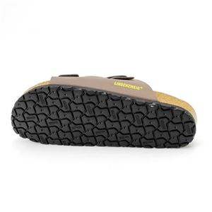 LINDENZWEIGドイツ製メンズメモリーインソール内蔵サンダル BLACK (ブラック) 42サイズ 約26~26.5cm ヒール高さ/約2cm
