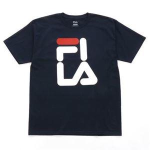 FILA FI OVER LA TEE Tシャツ 412 navy サイズ:M