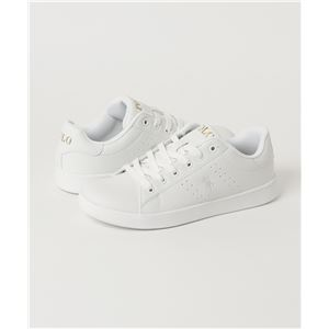 POLO RALPH LAUREN QUINCEY COURT スニーカー WHITE サイズ:24cm