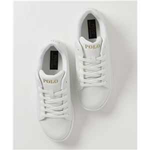 POLO RALPH LAUREN QUINCEY COURT スニーカー WHITENAVY サイズ:23.5cm