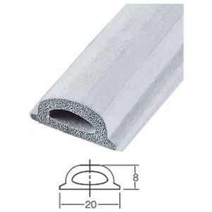 フィットクッション/引き戸用ゴムスポンジ 【H8×W20×L2500mm】 ホワイトグレー 水上金属 #820-2500