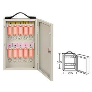 ワールドキーボックス/鍵収納箱 【携帯・壁掛け兼用型/10本掛用】 スチール製 水上金属 K-10