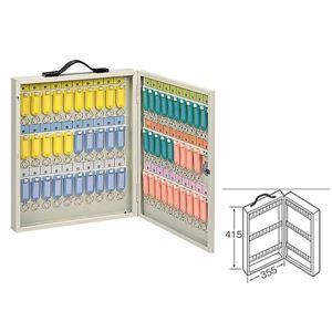ワールドキーボックス/鍵収納箱【携帯・壁掛け兼用型/60本掛用】スチール製水上金属K-60