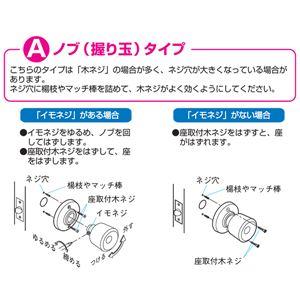 室内用ドアノブ 【鍵なし 外開きタイプ】 箱入...の紹介画像3