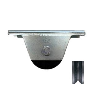 ヨコヅナ 鉄重量戸車 V型 枠付 75mm JHM-0755 [2個入]