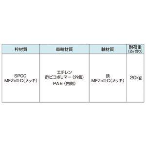 ヨコヅナ 防音ゴールド戸車 36平 YBM-0362 [20個入]