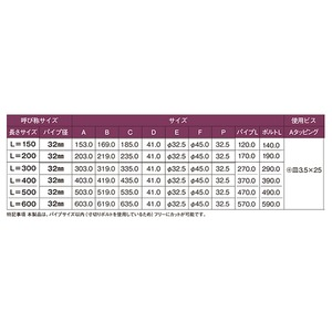 D型ロングブラケット 32×150mm 通 H/L