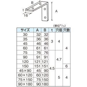 ユニクロ 特厚金折 45mm [100個入]