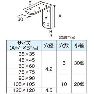 ステンレス キング隅金 120mm [20個入]