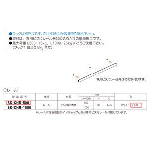 コートハンガーレール シルバー SK-CHR-500 [1本]