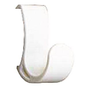 コートハンガーレール 専用フック 【ホワイト×10セット】 耐荷重5kg 強化ナイロン製 〔DIY 業務用 工事〕