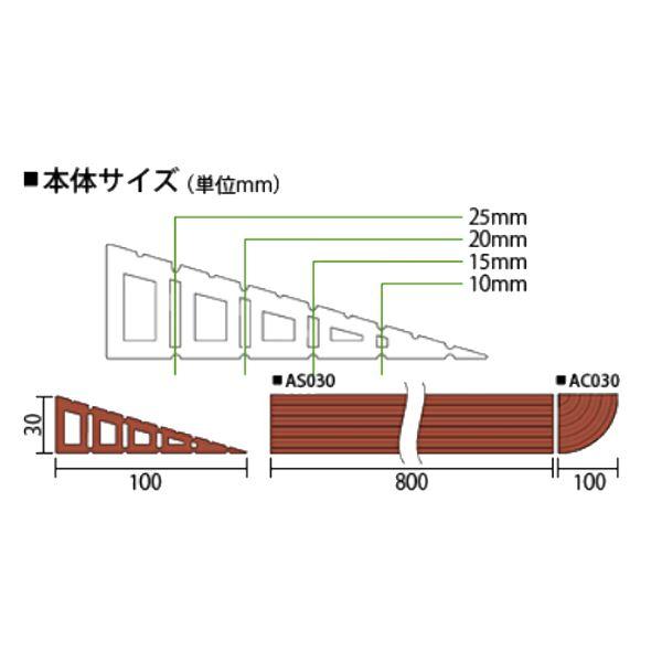 安心スロープ AS030 ライトブラウン