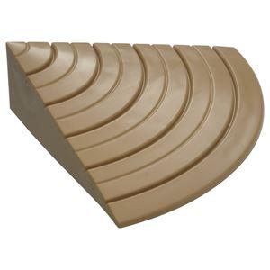 段差プレート 【サイド用】 ライトブラウン 長さ100×出幅100×高さ30(10~30)mm 防滑 柔軟仕様 『安心スロープ』