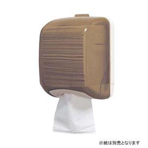 ワンタッチトイレットペーパー専用ホルダー【ブラウン】幅143mm〔お手洗いレストルーム〕