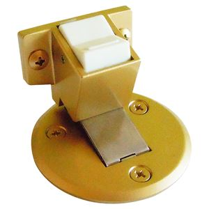 フラット戸当りZ型 ストップ付面付型 ゴールド塗装 [6個入] 【0410-02112】