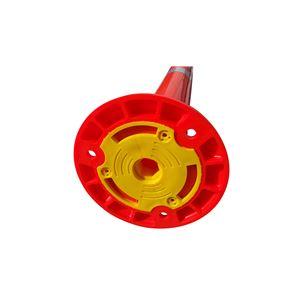 【5本セット】 ポリウレタン製視線誘導標/ソフトコーン 【高さ760mm】 3点固定式 専用固定アンカーセット