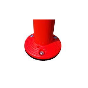【1本】ポリウレタン製視線誘導標/ソフトコーン 【接着タイプ】 高さ760mm 専用連結ボルト付属