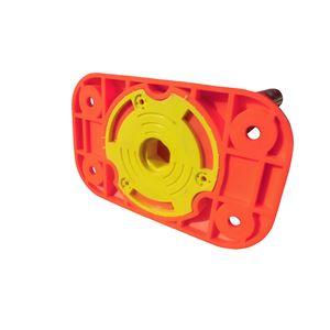 【5本セット】 ポリウレタン製視線誘導標/ソフトコーン 【ベース式/4点固定】 高さ1000mm 専用固定アンカーセット
