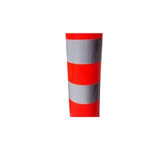 【1本】PVC製視線誘導標/ソフトコーンH 【赤色】 高さ750mm 専用固定アンカーセット