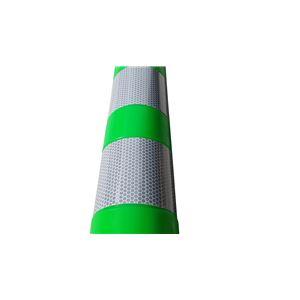 【1本】PVC製視線誘導標/ソフトコーンH 【緑色】 高さ750mm 専用固定アンカーセット