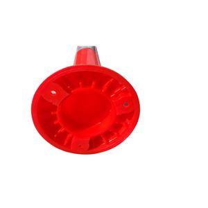 PVC製視線誘導標 ソフトコーンH750【5本セット】(専用固定アンカーセット)赤色※スクリューアンカーセット