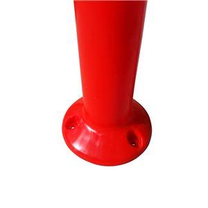 PVC製視線誘導標 ソフトコーンH460【5本セット】(アスファルト用アンカーセット)赤色※スクリューアンカーセット