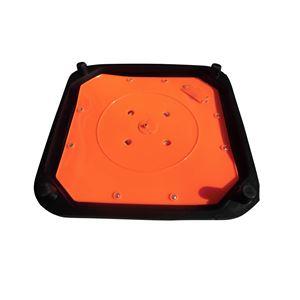 【1本】伸縮コーン/フリーコーン 【高さ700mm】 4.5kgベースタイプ LED内蔵 交換用LEDキット付属