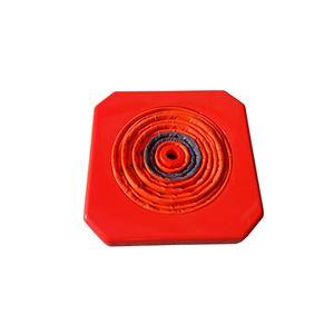 【5本セット】 伸縮コーン/フリーコーン 【高さ550mm】 軽量 LEDトップライト付属 〔緊急時 イベント会場 学校関係〕