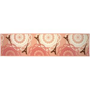 アラモード キッチンマット/台所マット 【45×180cm フレンチ】 洗える すべり止め加工 ナイロン素材使用