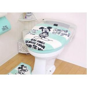 Ciao!ミッキー トイレ蓋カバー/トイレ用品 【洗浄暖房用 ブルー】 洗える