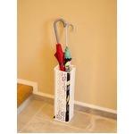 スリム傘立て/傘ホルダー 【ホワイト】 高さ15cm スチール製 『ファミーユ』